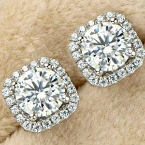 1CT Moissanite Diamond Earrings Stud
